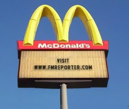 Advertise the site and win a month of FMLive Mcdonalds