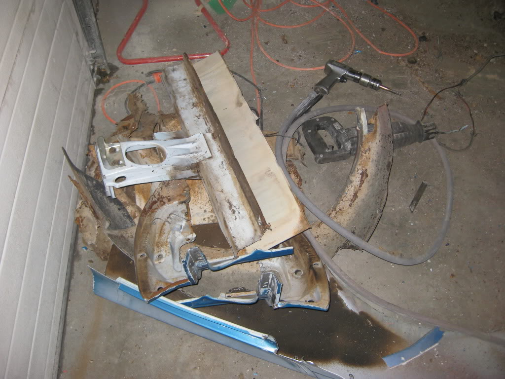 1966 Mustang in the works progress IMG_1916