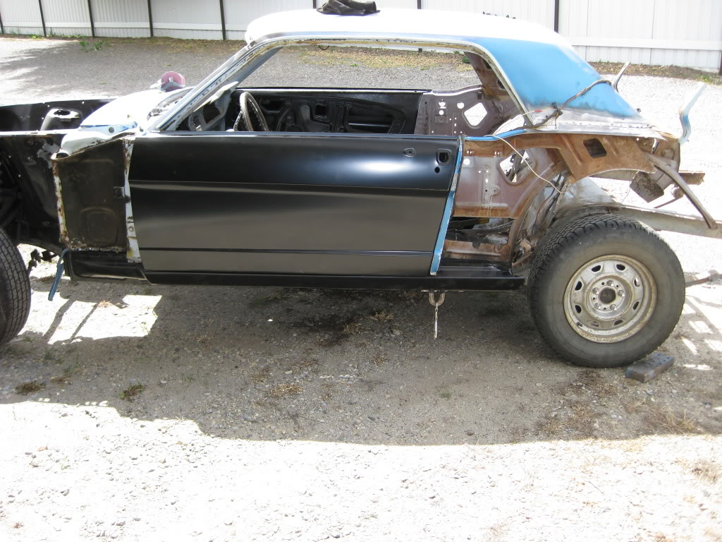 1966 Mustang in the works progress IMG_1970