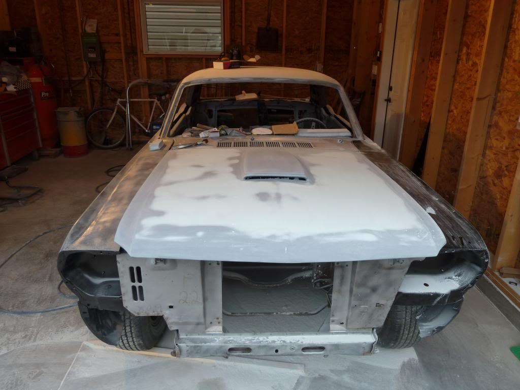 1966 Mustang in the works progress P1040869