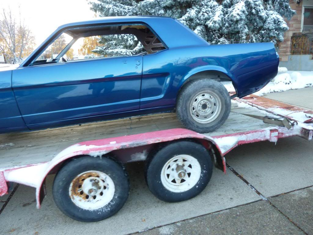 1966 Mustang in the works progress P1050042