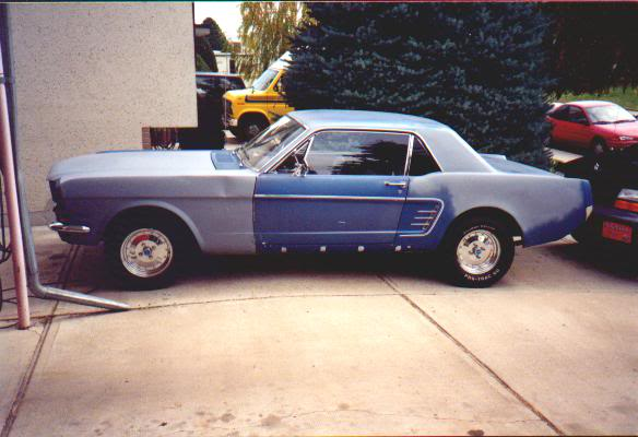 1966 Mustang in the works progress Stang66
