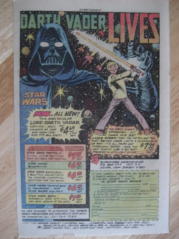 SW ADVERTISING FROM COMICS & MAGAZINES Comic002