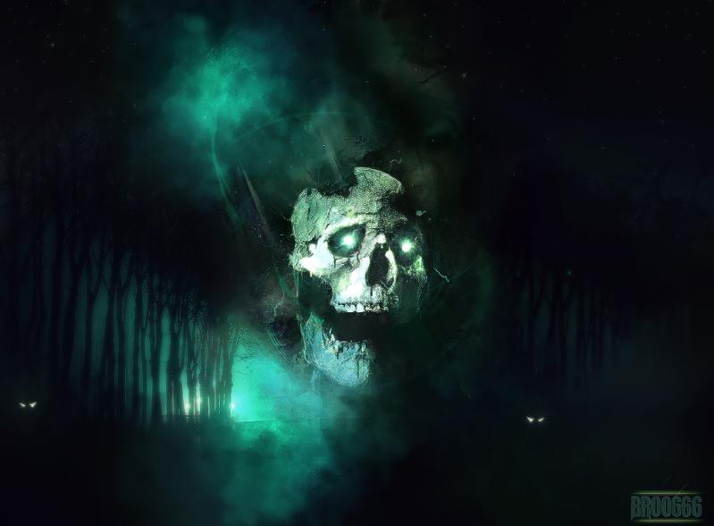 EVIL 666 Skullgreen2broo2