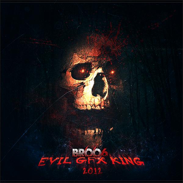 EVIL 666 SkullheadshotBROO666logo