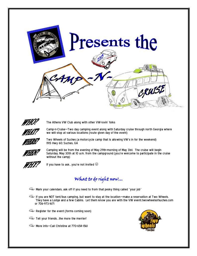Athens VW Club Presents The Camp n' Cruise MicrosoftWord-campncruisefliercolor-page-001_zps5ddc80cc