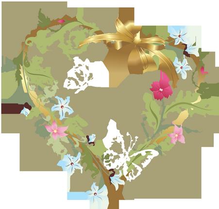 Section Je t'aime, amour & coeurs 1-coeur-fleuri