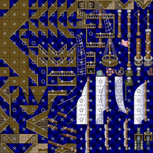 [RPG Maker VX] Tileset 'barco' Walk