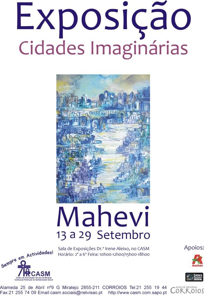 EXPOSIÇÃO DE PINTURA  DA NOSSA QUERIDA MAHEVI. Cartaz_mahevi_setembro_2010