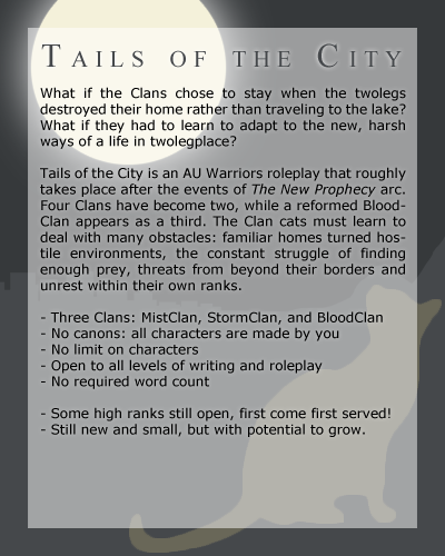 Tails of the City -- AU Warriors Advert