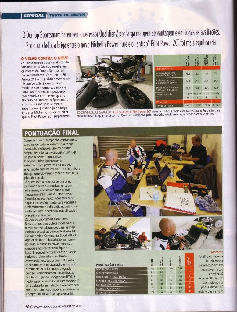 pneus - COMPARATIVO DE PNEUS - REVISTA MOTOCICLISMO SET/2010 P6