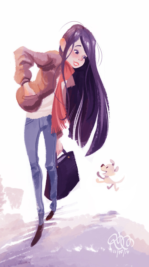 Spam With Pics 2.0 - Page 5 Girl_and_puppy_by_stephenmccranie-d86il6w