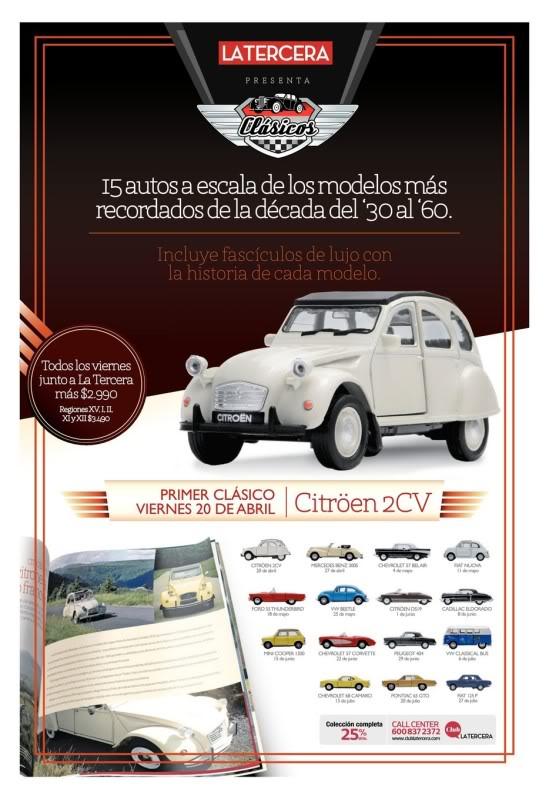 Nueva Coleccion La Tercera : Autos Clasicos (comienza e PromocionLaTercera20120415