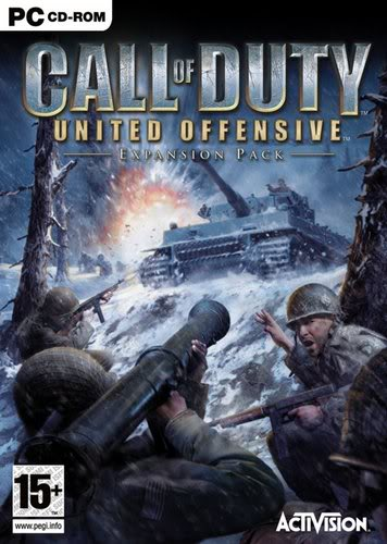 Call of Duty (03) + datadisk (United Offensive), Call od Duty 2 (05) / EN Boxshot_uk_large356x500
