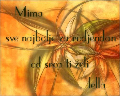 Mimana sve najbolje Mima
