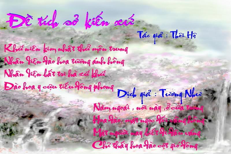 Đề Tích Sở Kiến Xứ (Bài thơ Hoa Đào) Detichsokienxu
