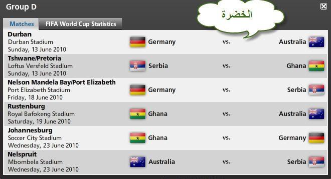 كل مباريات كأس العالم ..توقيتها .. وأين ستقام .. ** Fbc61c9dfc0