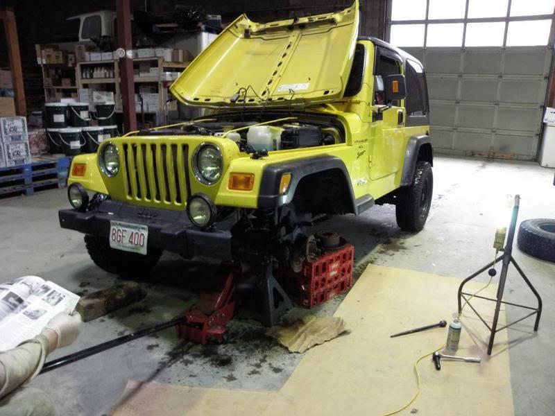 Andrew's Yellow Jeep Build. P4230094