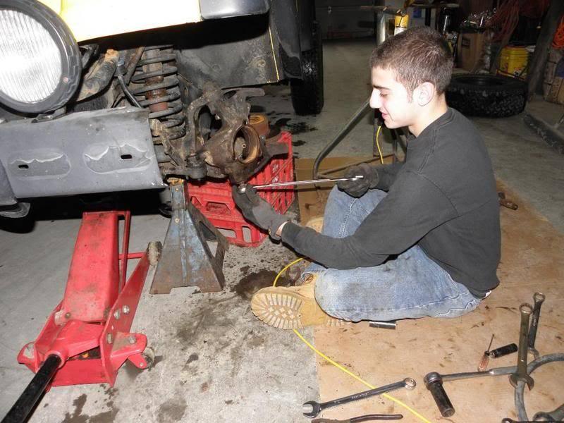 Andrew's Yellow Jeep Build. P4230098