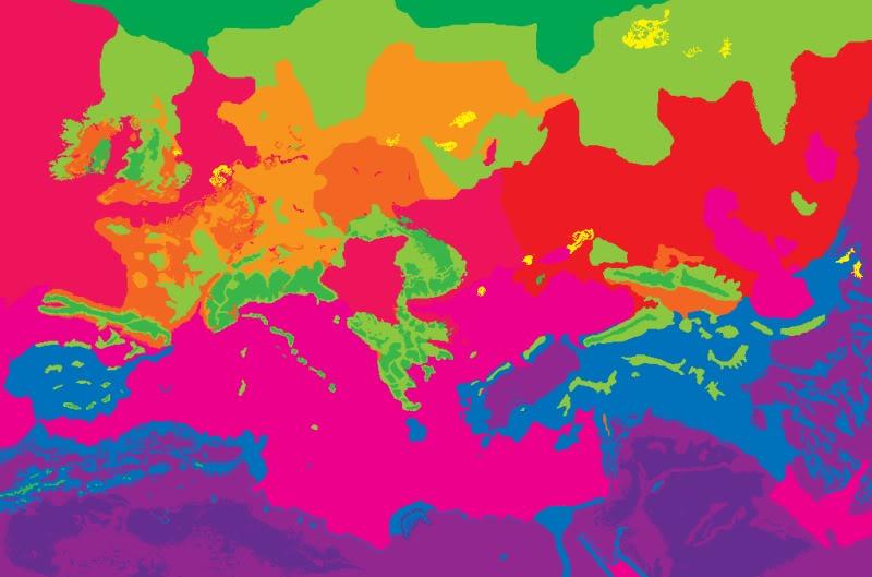 Guía-Ideas sobre Entorno (árboles, pastos, geografía). Map_climates