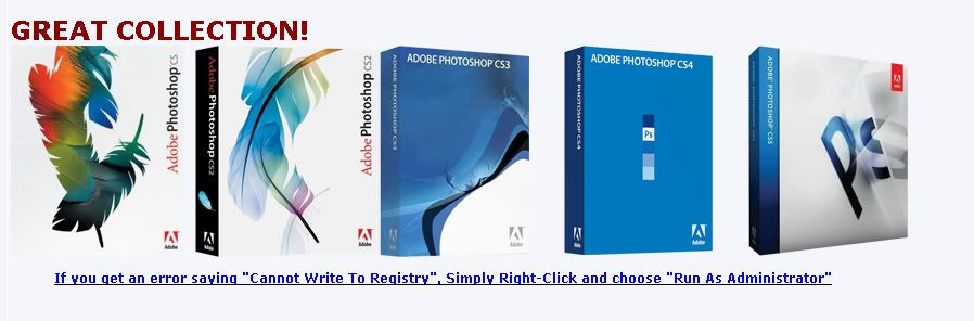 Adobe Photoshop CS1-CS2-CS3-CS4-CS5 Portable