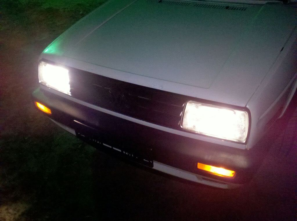 Mk2 Jetta Build... the sites first build =P NewHeadlightsInstalled