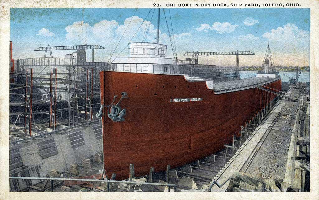 Great Lakes Ship / Freighter JMORGANDryDockToledo-pcl31_zps25623785