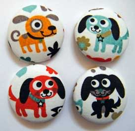 Fabric Buttons July-110