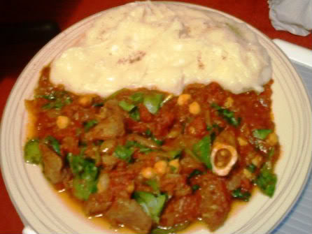 Lamb, chickpea & spinach curry with masala mash Lambchickpeaspinachcurrywithmasalam