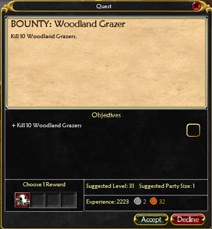 Great Forest Bounty Boards HWBBWoodlandGrazerQuest