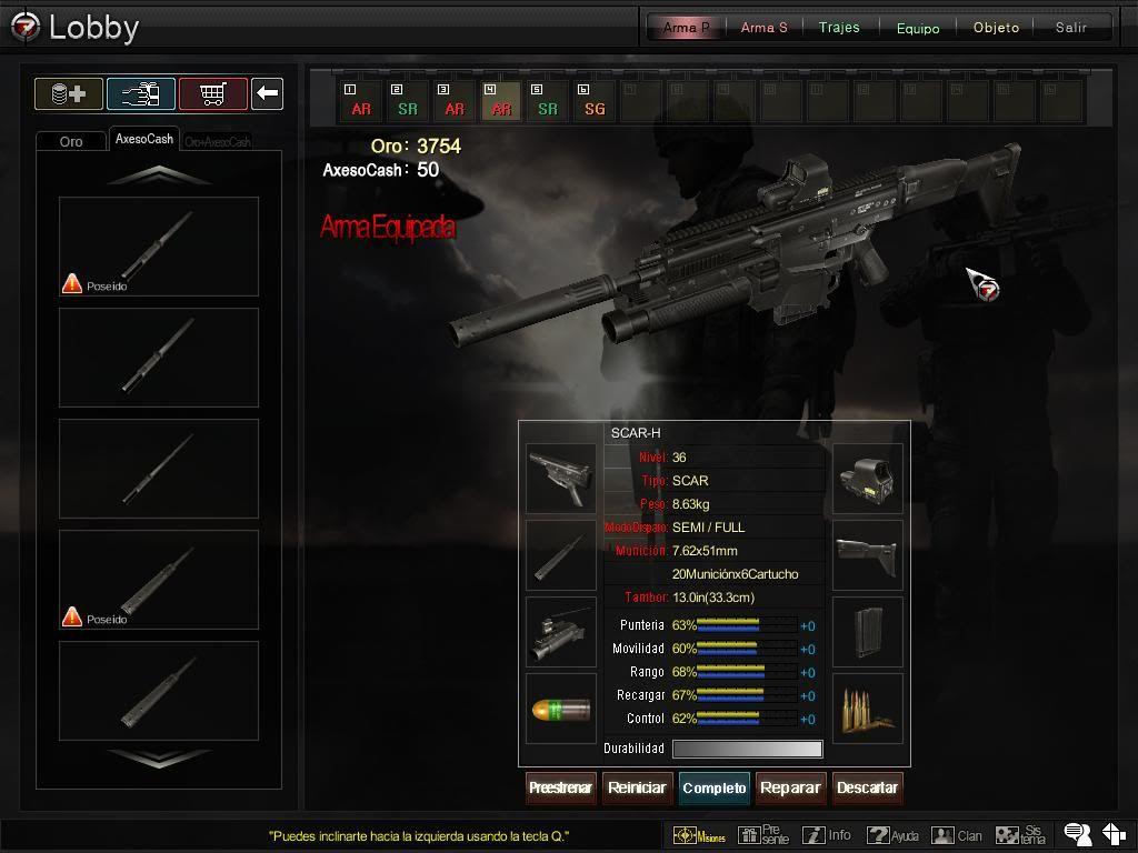 Nova Config da SCAR-H 201111128212