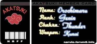 Đăng kí làm Member Card Akatsuki nào! Orocard