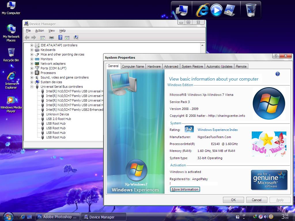 نسخة جوست ويندوز اكس بي سيرفيس باك 3  Giao_dien_chinh