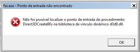 Erros Após Atualizar NVIDIA Experience ErroFSX