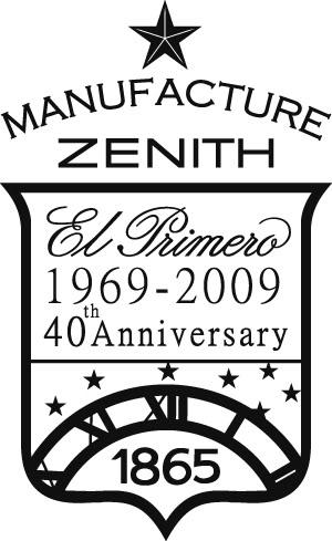 Exclusif : La collection ZENITH EL Primero du 40 ème anniversaire ! 1_Logo_Anniversary_ElPrimero_poscop
