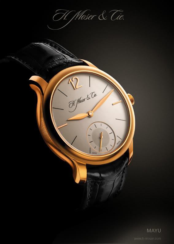J' ai très envie d' une montre habillée en or,  à 3 aiguilles MoserMayu