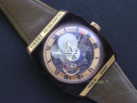 Il fallait de l'audace pour sortir la montre en plastique Tissotresearch2001face