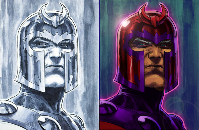 Materiais, ferramentas, técnicas e recursos de desenho Magneto2