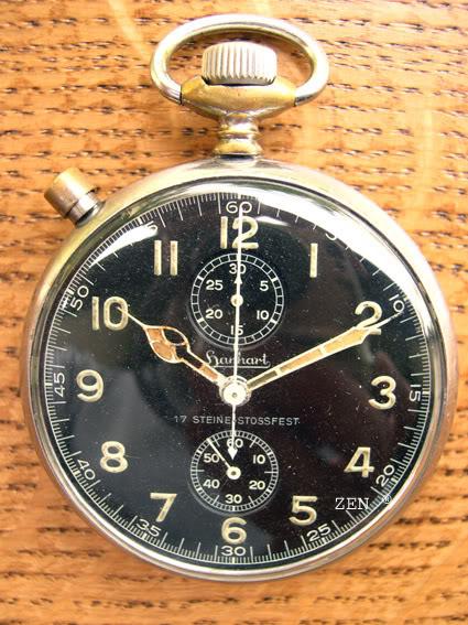 Calibres de montres bracelets dans des boitiers de poche Hanhartmilitaire2copie