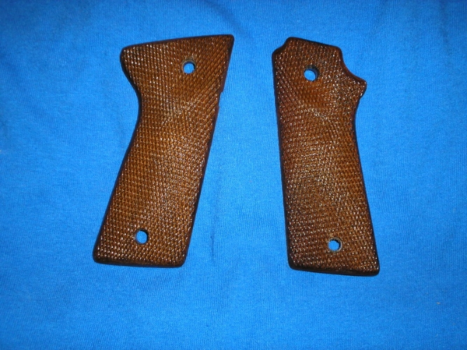 F/S 1911 Auto Herretts Checked Shooting Star Grips with palm swell