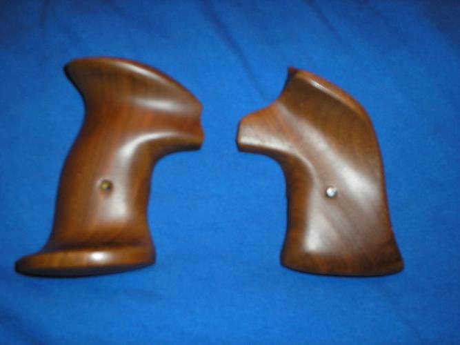 WTS Vintage Walnut S&W N frame Righthand Bullseye Thumb Rest Target grips  P1010105_zpsdhyjrpt6