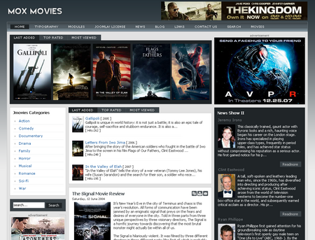 JOOMLA premium templates and joomla help desk 00-24! MoxMovie