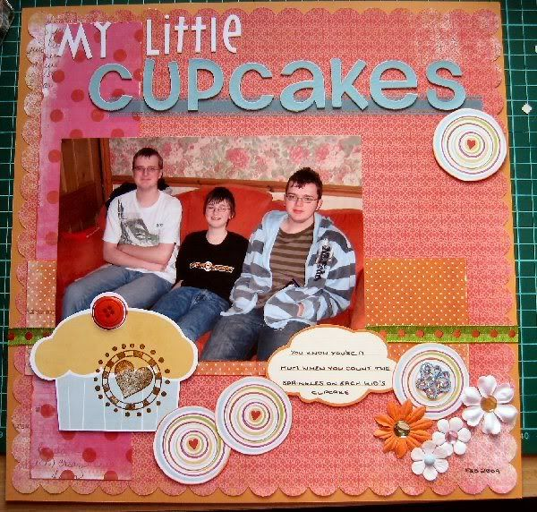 Girly paper works for boys Cupcakes