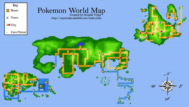 Entire Pokemon World Map