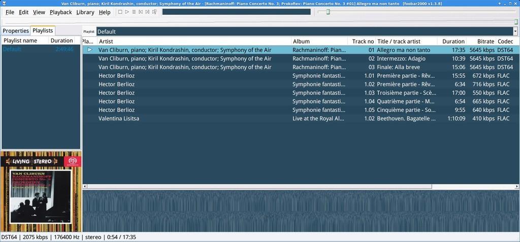 Configurar Foobar en Linux para reproducción bitperfect  DSD_over_PCM