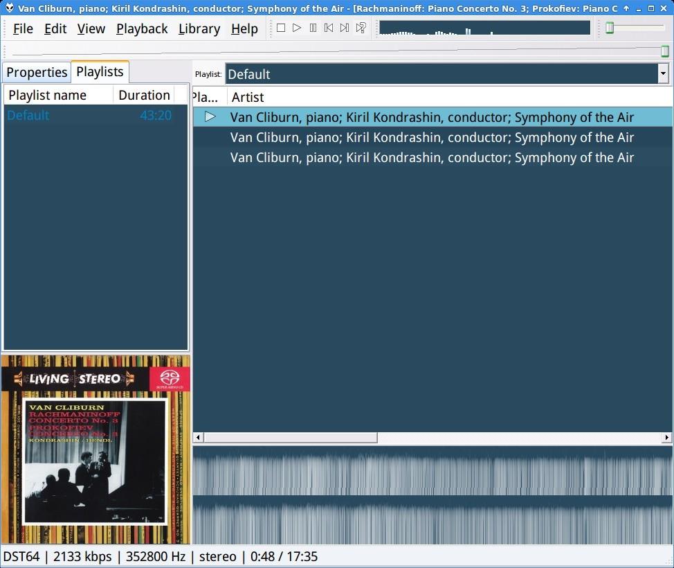 Configurar Foobar en Linux para reproducción bitperfect  Cap1
