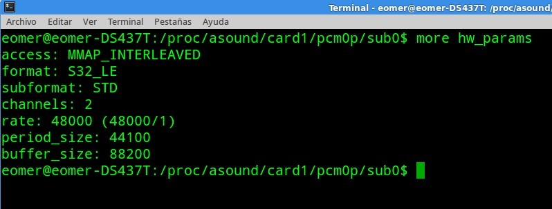 Configurar Foobar en Linux para reproducción bitperfect  Hw_params
