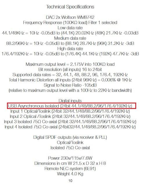 Reproducir FLAC en equipo, DAC, MULTIMEDIA,.... Manual%20rega%20dac