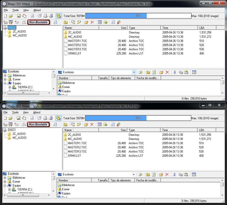 Latencia DSf vs latencia SACD Raiz