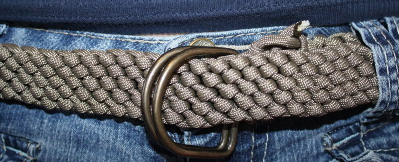 Look look! I made a belt! Finished